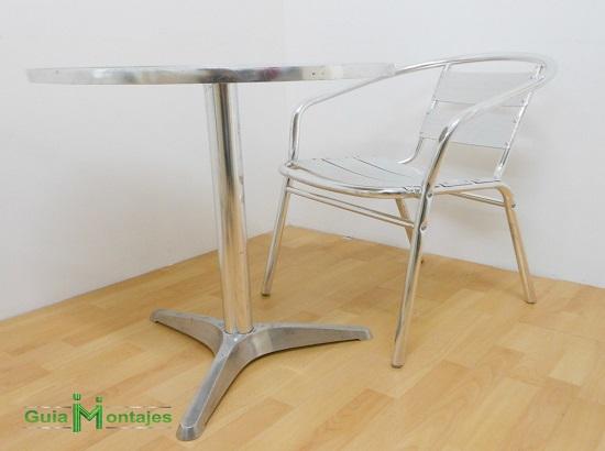 Juego de mesa y silla aluminio 03