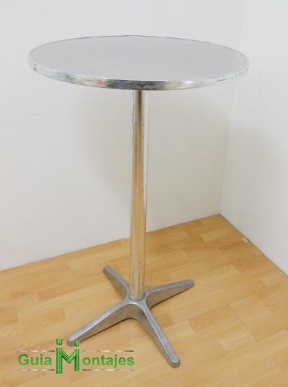 mesa alta de alumino
