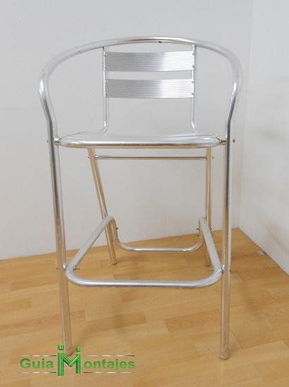 silla alta aluminio